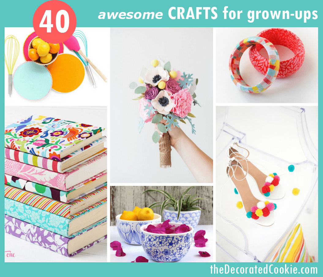 40 awesome crafts for grown-ups -- DIY