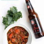 EASY DINNER recipe idea: Crock pot turkey chili with kale and beer