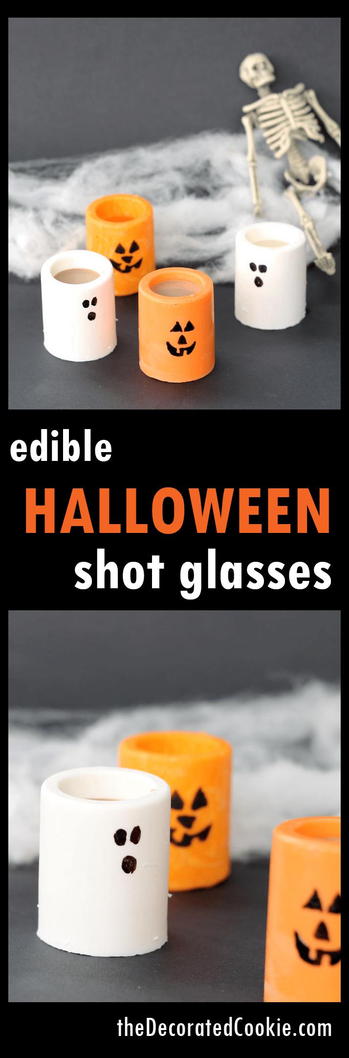 edible Halloween shot glasses