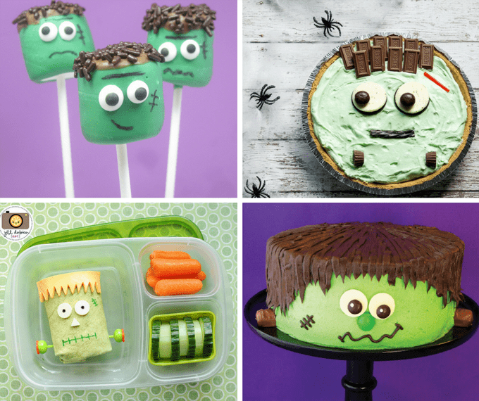 roundup of Frankenstein food ideas for Halloween parties
