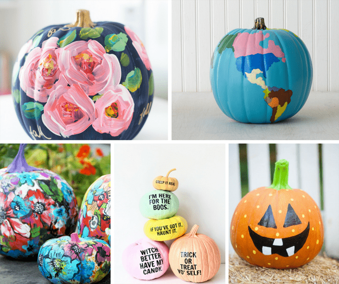 25 gorgeous, no-carve, PAINTED pumpkins for Fall and Halloween