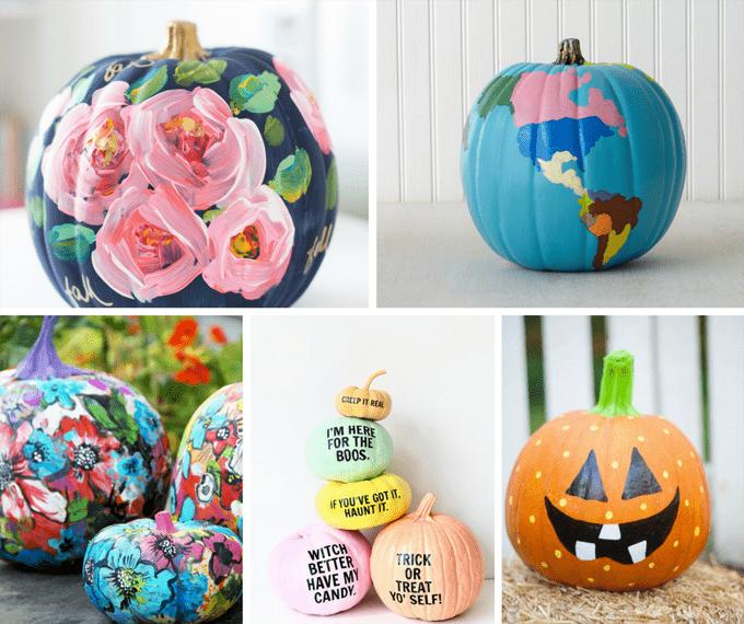 Halloween Painted Pumpkins Part - 43: 25 Gorgeous, No-carve, PAINTED Pumpkins For Fall And Halloween