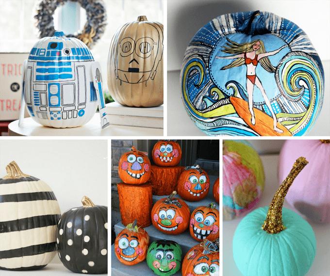 Halloween Painted Pumpkins Part - 27: 25 Gorgeous, No-carve, PAINTED Pumpkins For Fall And Halloween