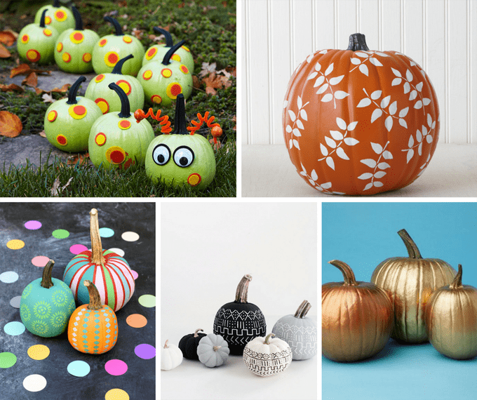 A Roundup Of 25 No Carve Painted Pumpkins Ideas For Halloween