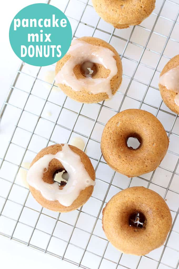How to make pancake mix donuts in the Babycakes Donut Maker. #Breakfast #Easy #donuts #pancakemix #donutmaker