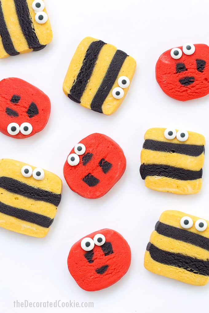 slice and bake bug cookies