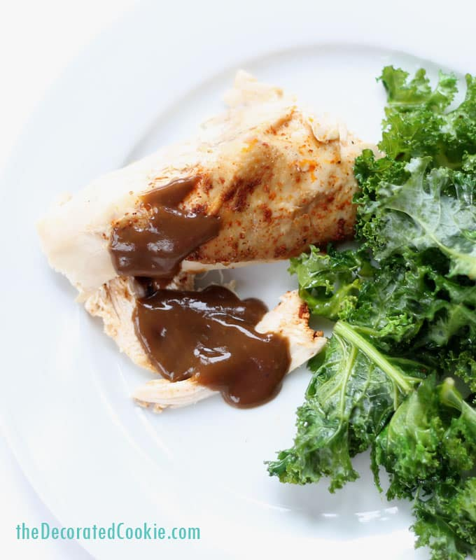 EASY DINNER IDEA: crock pot/slow cooker whole chicken with beer gravy