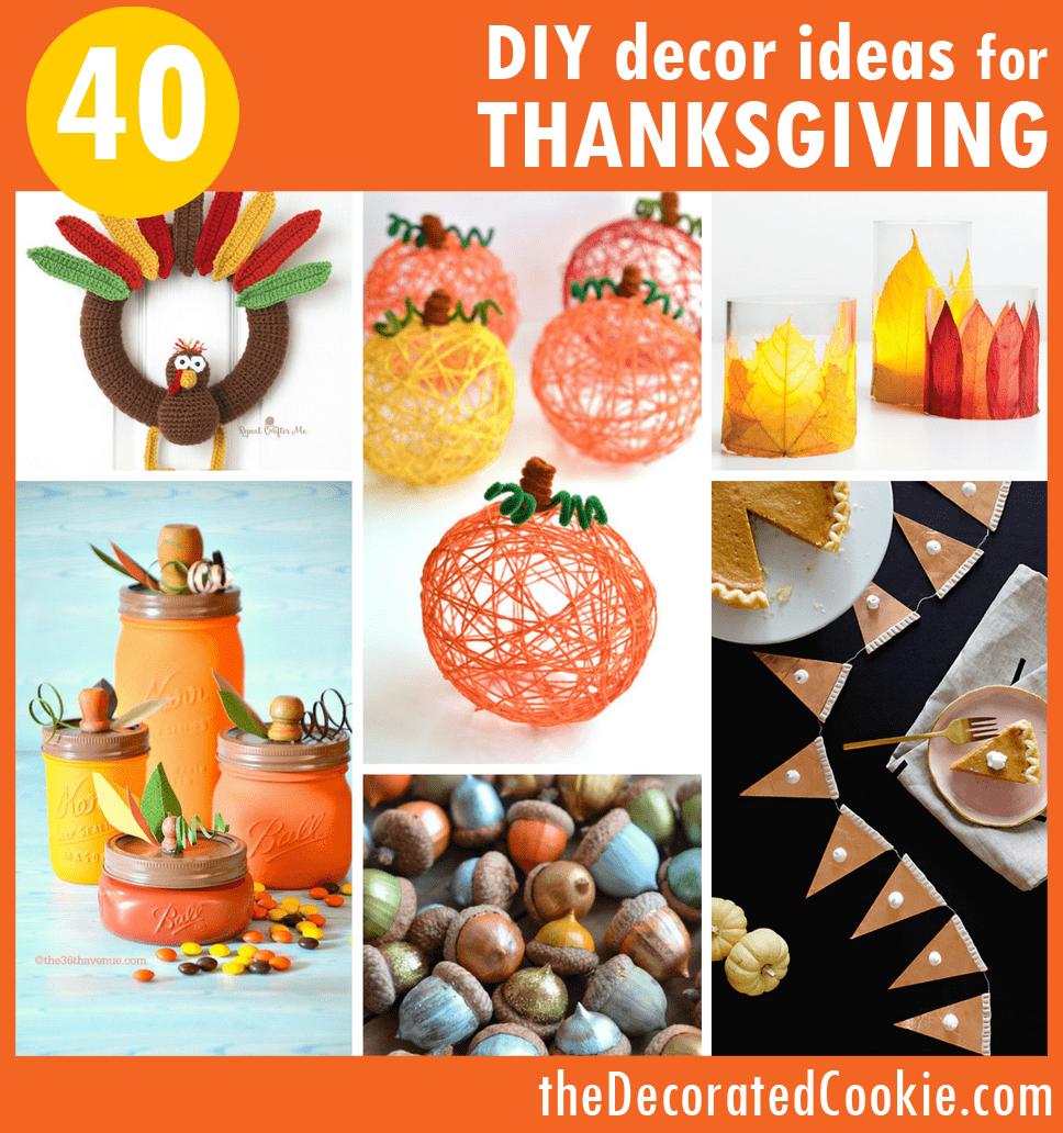 40 Diy Home Decor Ideas: 40 DIY Thanksgiving Decorations Ideas