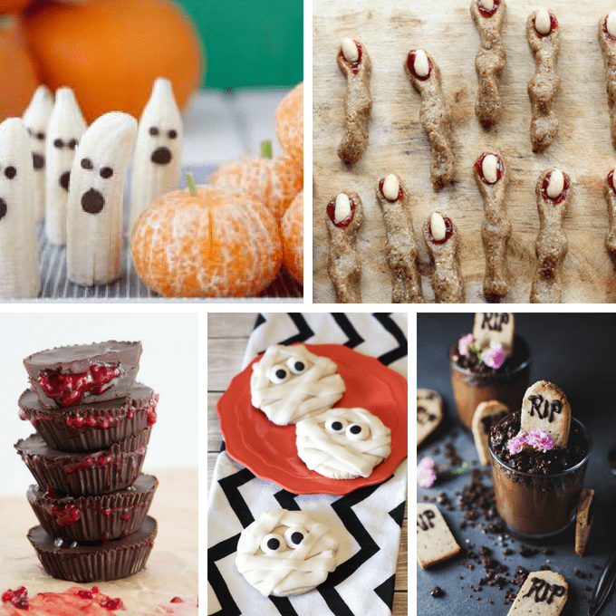 A roundup of 25 gluten-free and VEGAN Halloween treats so everyone can celebrate, no matter their diet! Great ideas for Halloween classroom parties. #halloween #halloweentreats #vegan #glutenfree #classroomtreats