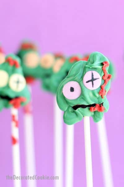zombie candy pops for Halloween