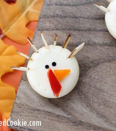 Babybel cheese turkeys Thanksgiving appetizer