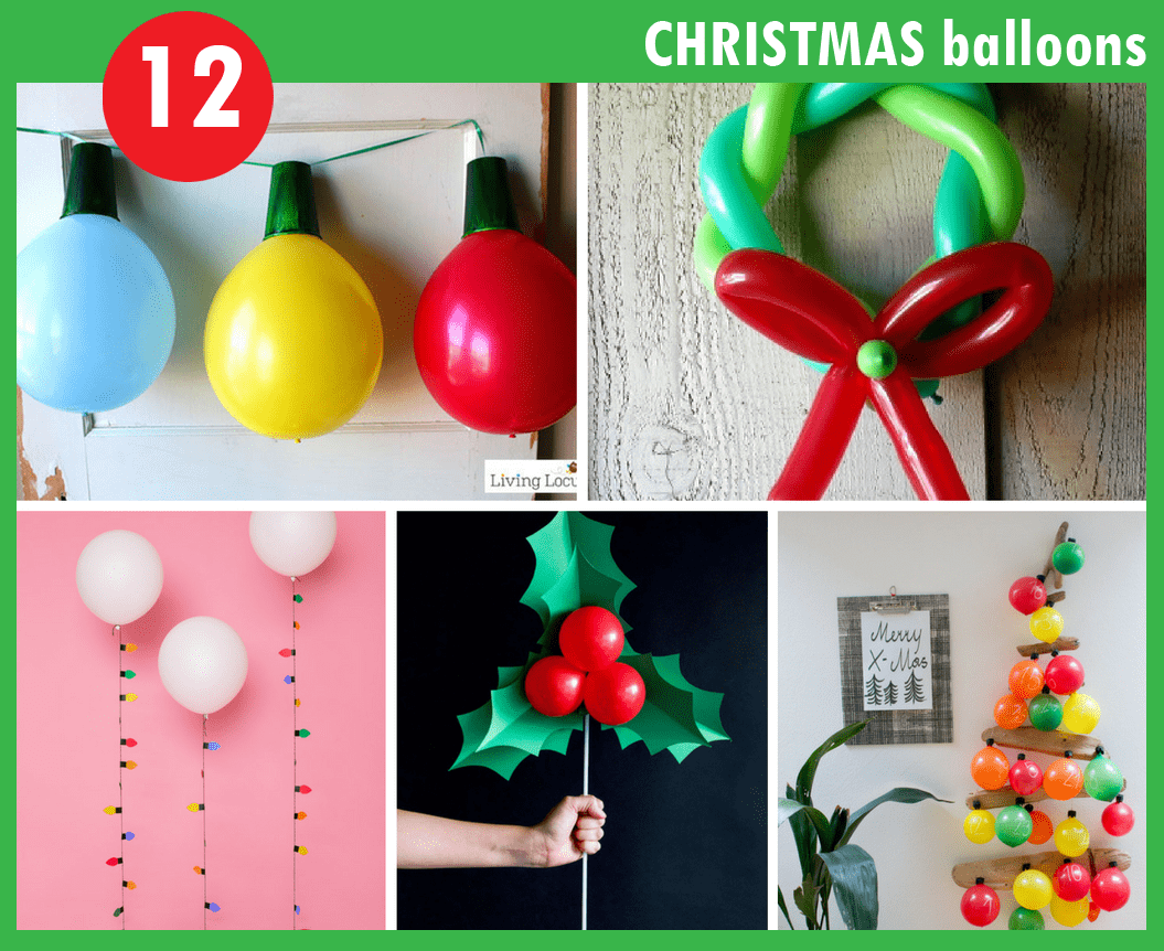 12 christmas balloons decorations diy christmas decorations rh thedecoratedcookie com  balloon design for christmas party