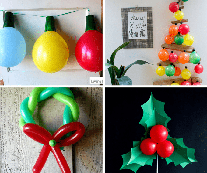 Christmas balloons decorations diy