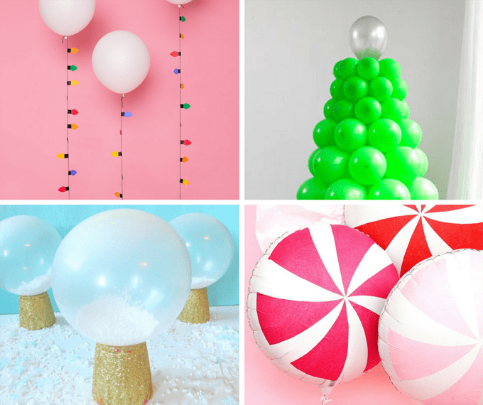 12 Christmas balloons decorations