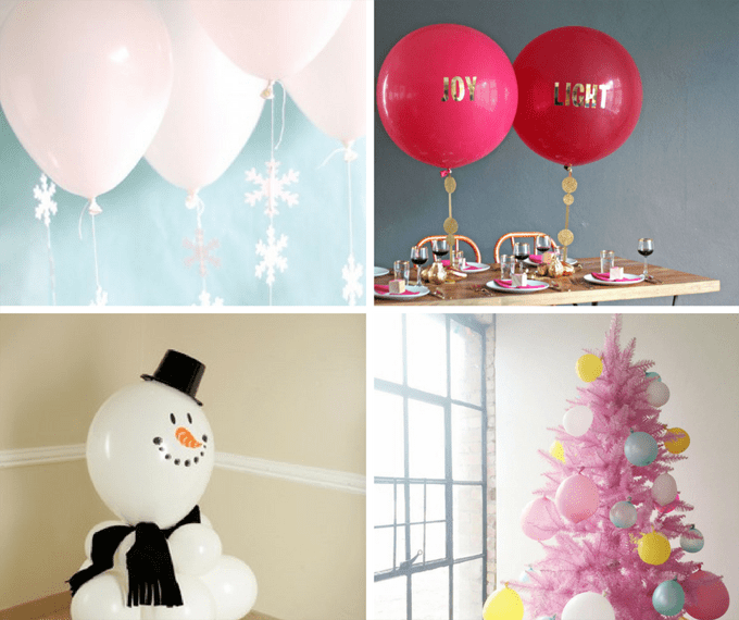 12 Christmas balloons decorations -- DIY Christmas decorations