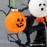 how to make Jack O' Lantern and Ghost Halloween ornaments