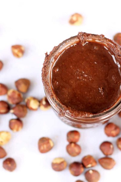 EASY homemade Nutella from hazelnuts and cocoa powder