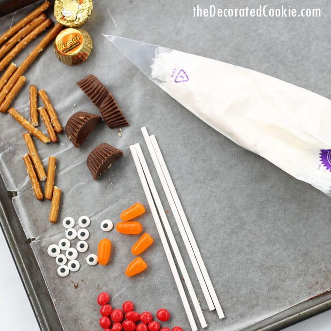 EASY melting snowman candy lollipops - chocolate pops