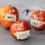 easy monster apples for a Healthy Halloween treat - with video