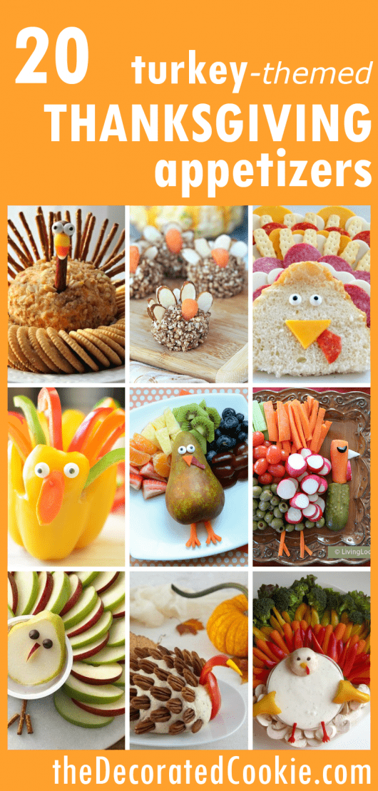 turkey themed appetizers for Thanksgiving