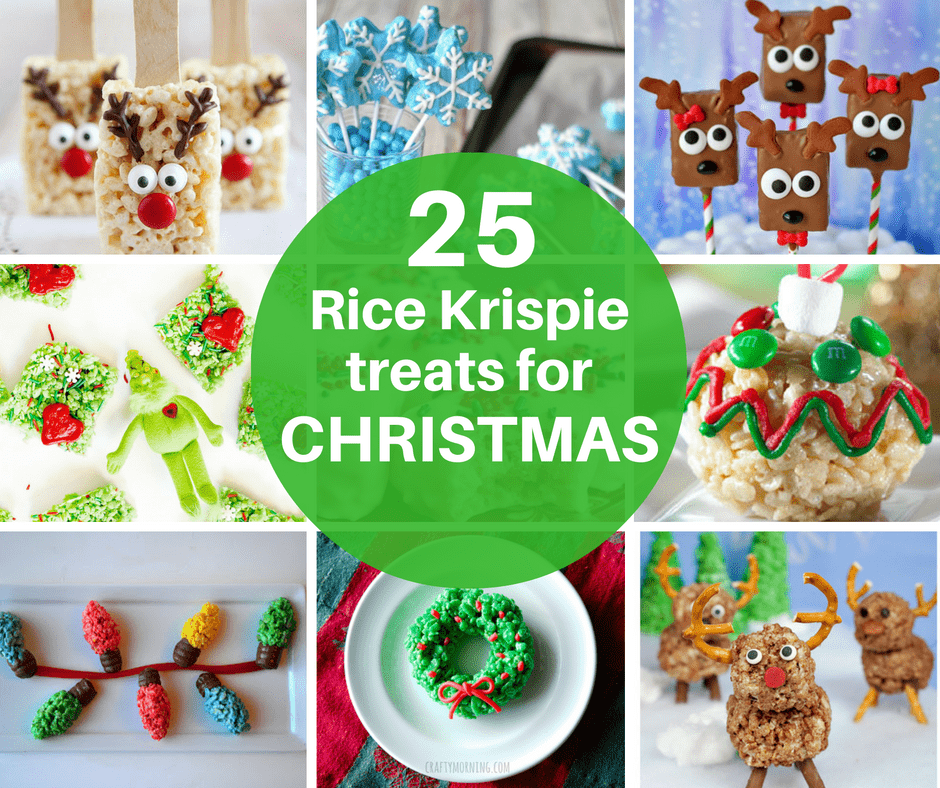 25 Rice Krispie Treats for Christmas -cereal treats