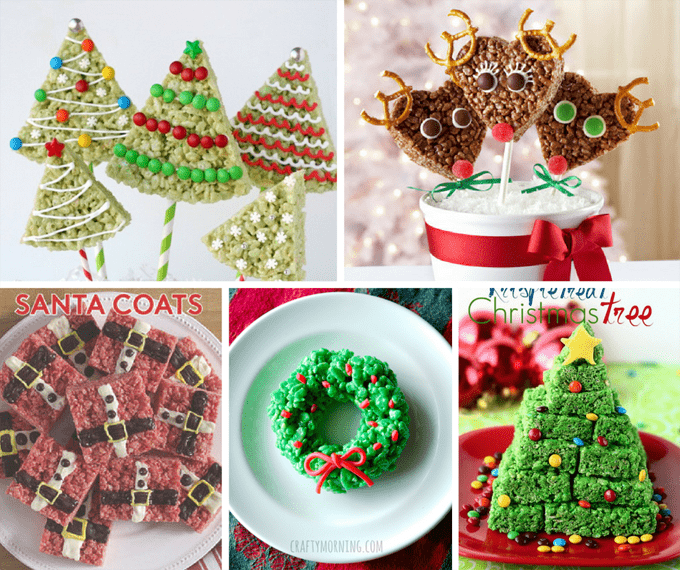 25 Rice Krispie Treats for Christmas -- cereal treats