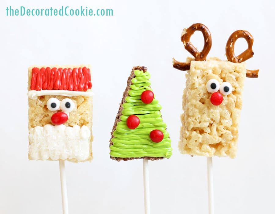 christmas rice krispie treats roundup