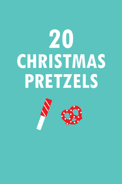 20 Christmas Pretzels