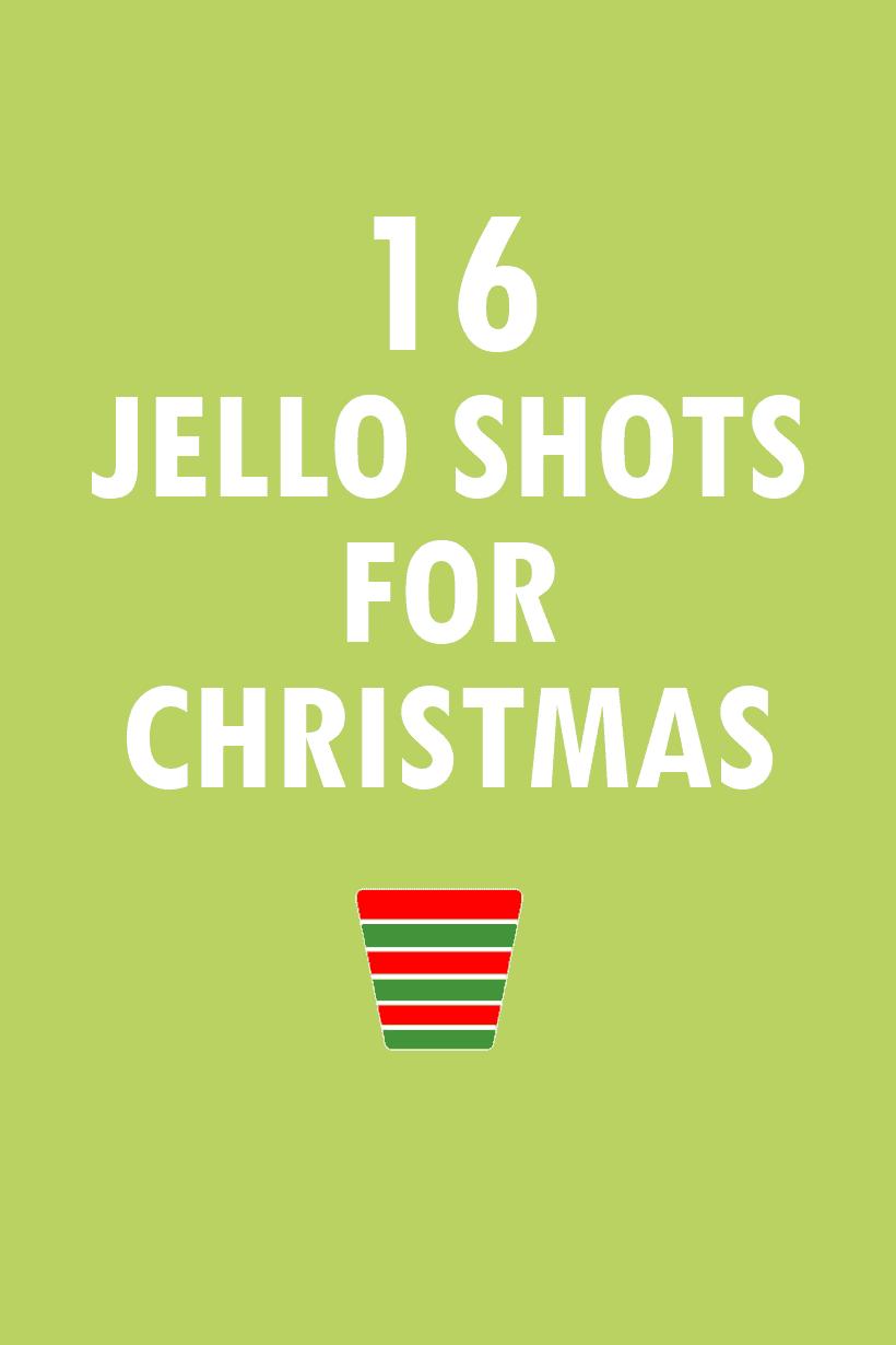 16 Jello shots for Christmas