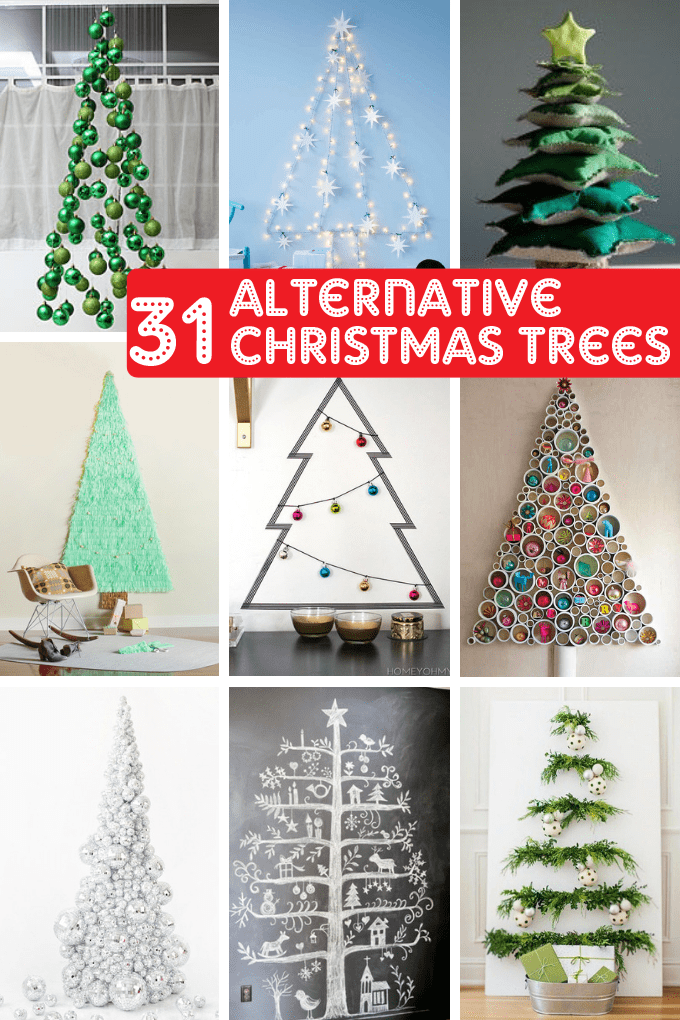 31 ALTERNATIVE CHRISTMAS TREES  -- Fun Christmas home decor