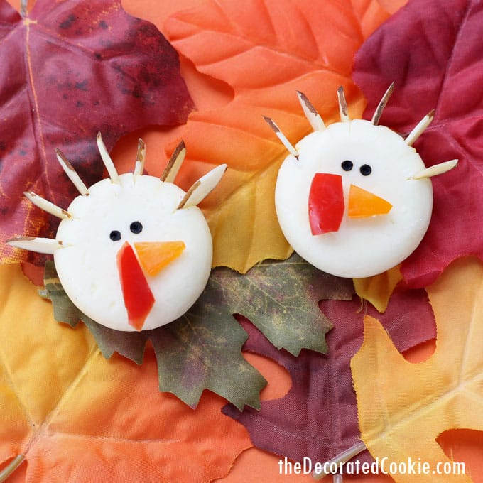 Babybel cheese turkeys Thanksgiving appetizer