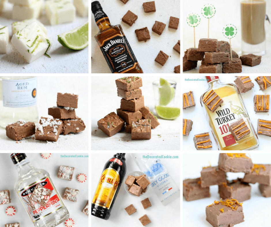 awesome 3-ingredient boozy fudge recipes