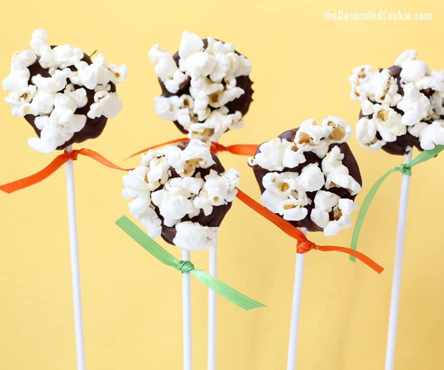 chocolate popcorn pops