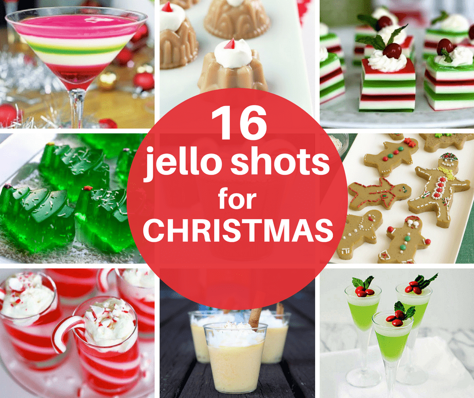 A roundup of 16 jello shots for Christmas ,, Christmas party