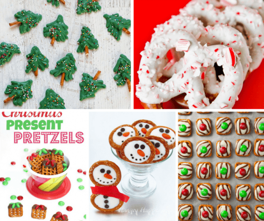 20 Christmas pretzels treats