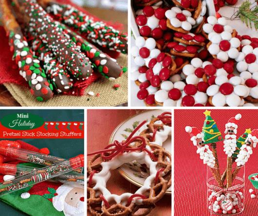 20 Christmas pretzels treats