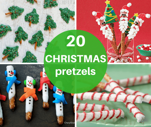 20 pretzel treats for Christmas