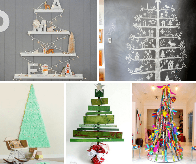 31 treeless Christmas trees -- unique, alternative Christmas trees