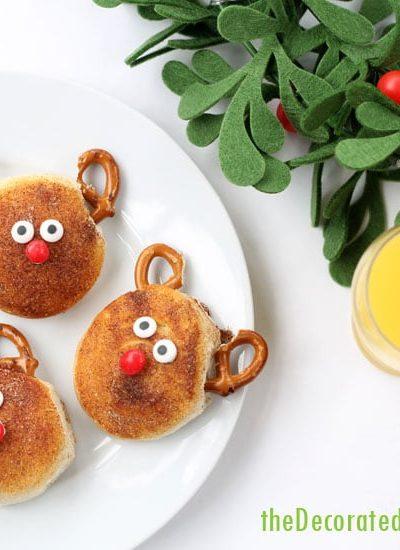 cinnamon sugar Rudolph biscuits Christmas breakfast