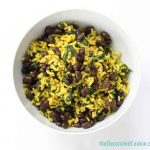 curried rice with spinach and black beans