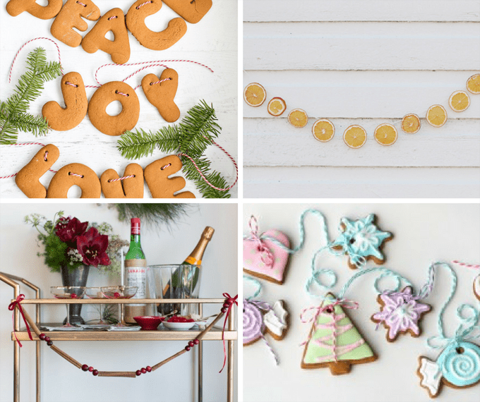 16 Christmas garlands from food