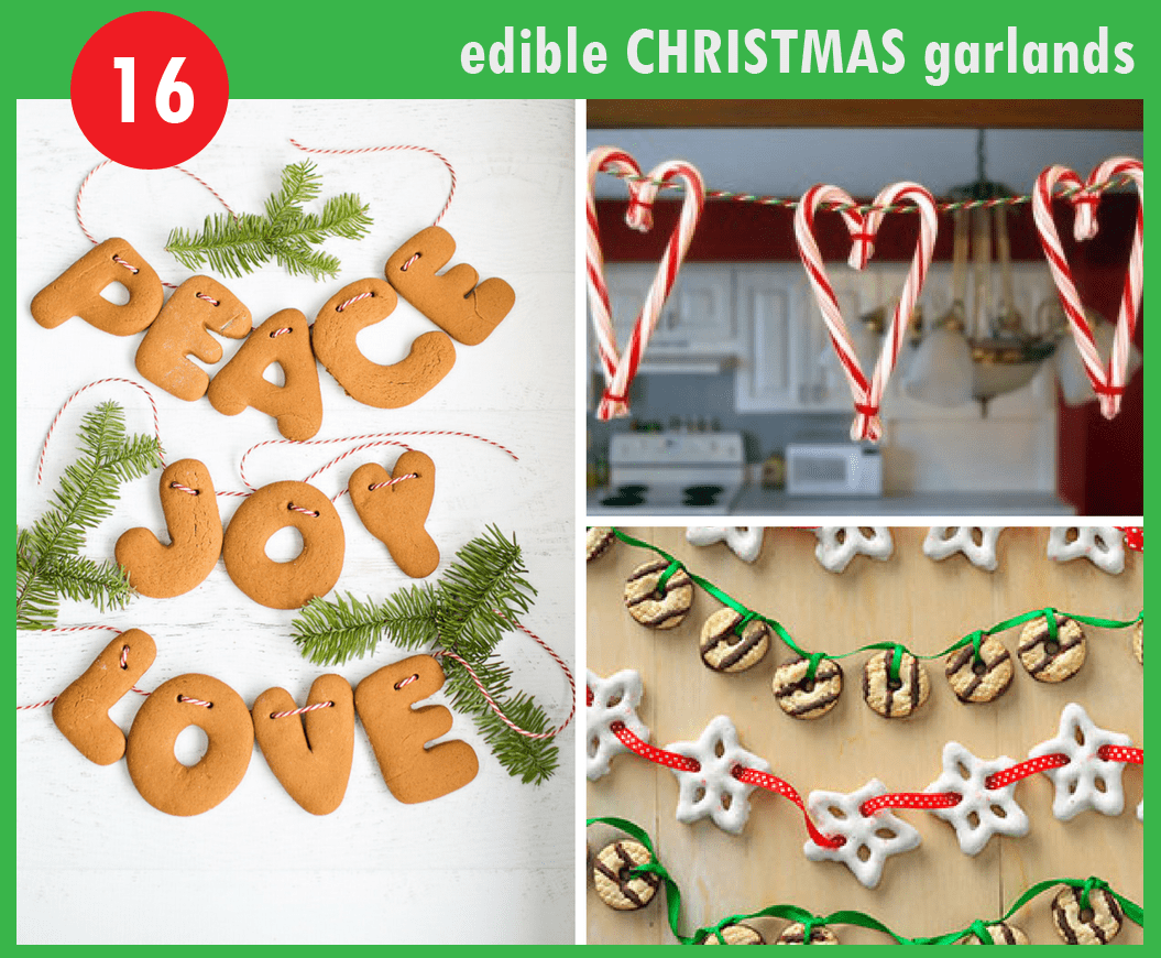 16 DIY christmas garlands from food