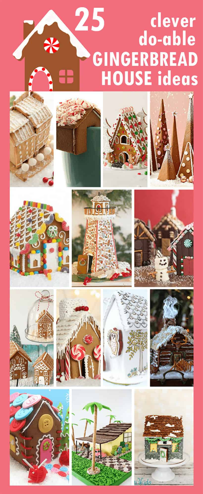 collage of gingerbread house ideas