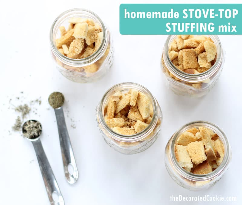 homemade Stove Top stuffing mix - make ahead instant stuffing saves time on Thanksgiving