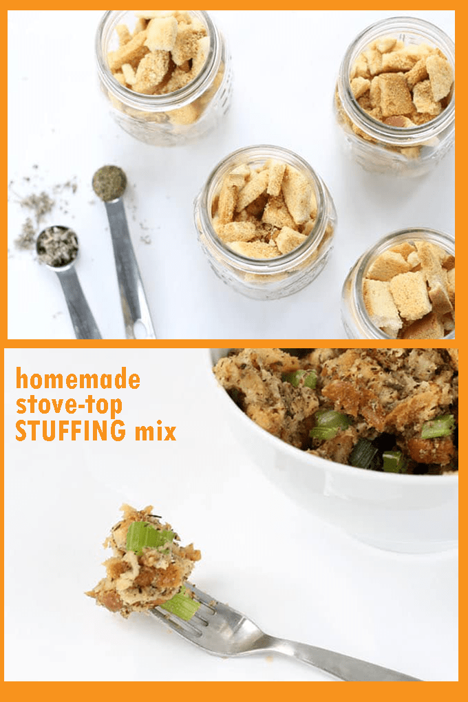 HOMEMADE STOVE TOP STUFFING. The copycat version of instant, stove-top stuffing for Thanksgiving dinner, better than store-bought. Great time-saver!