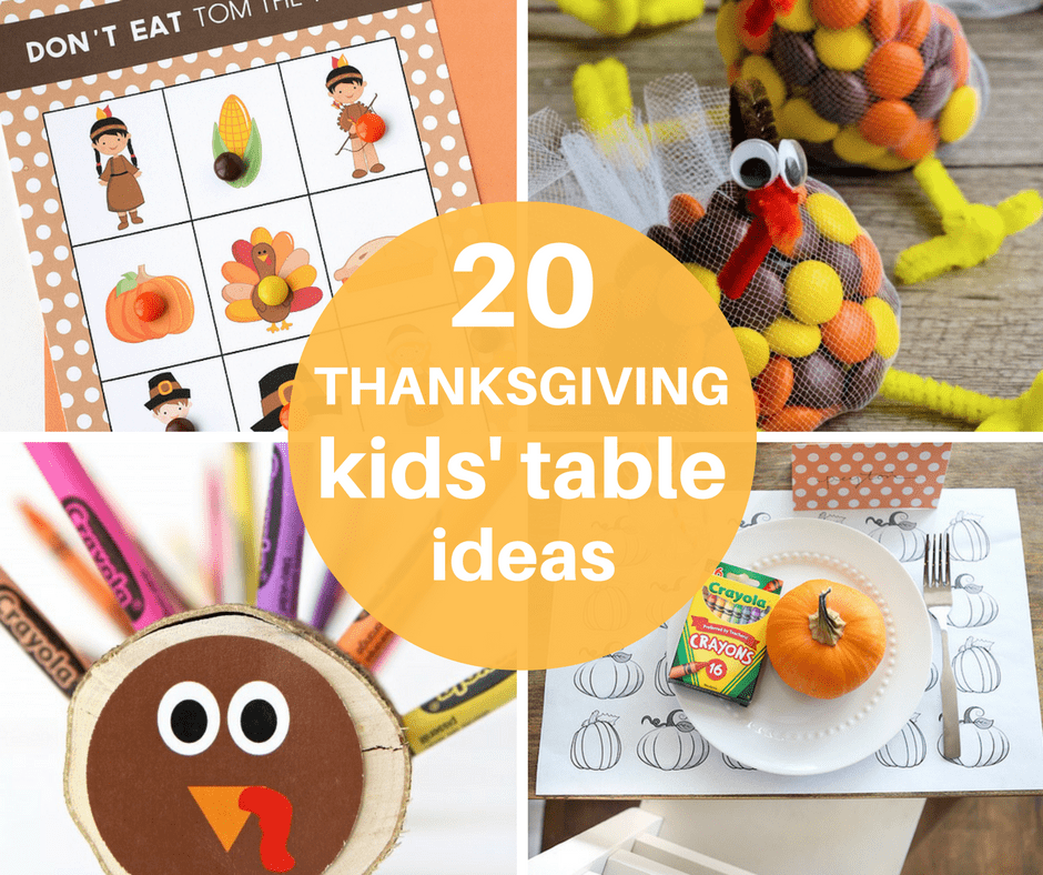 kids table thanksgiving ideas