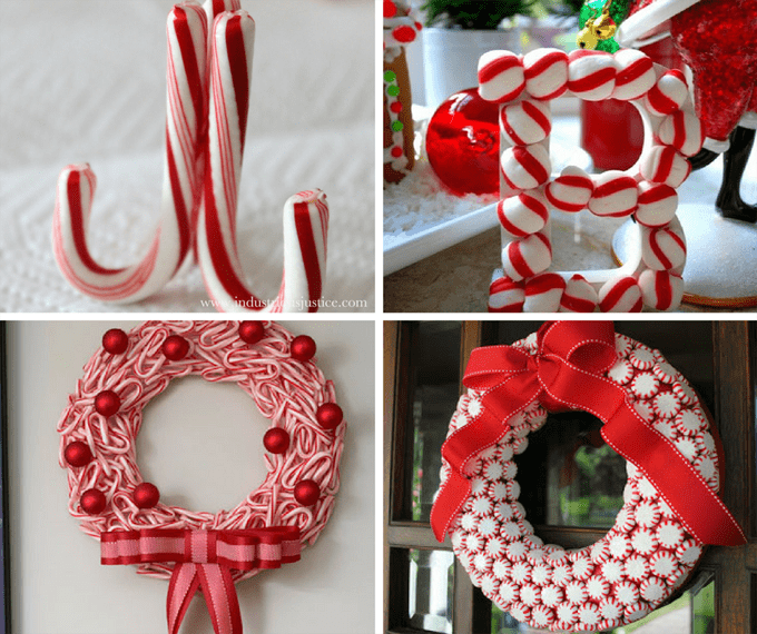 21 peppermint candy crafts for Christmas