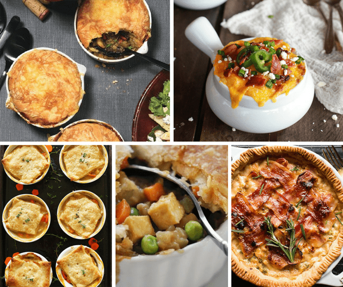 35 traditional and UNtraditional pot pie recipes - classic and crazy pot pie recipes