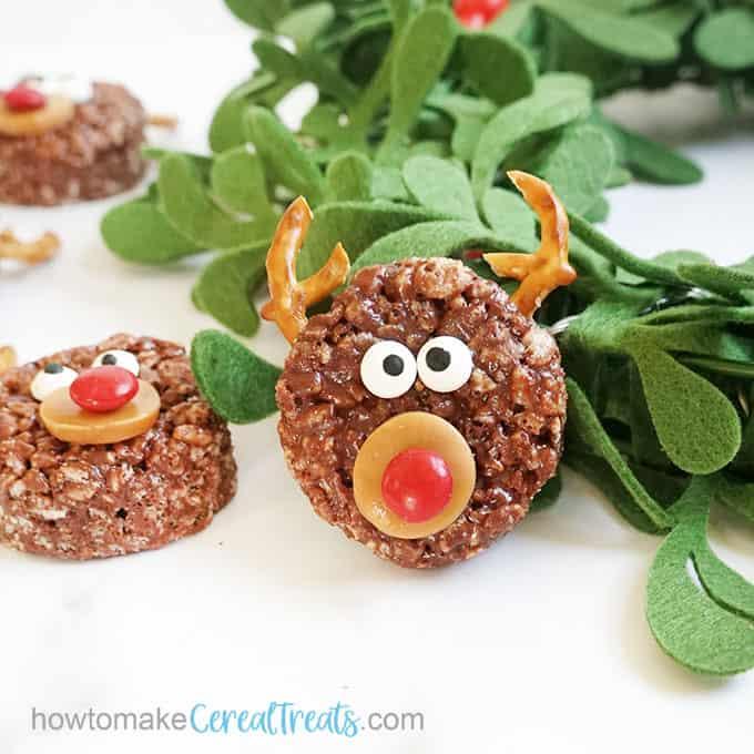 reindeer Rice Krispie treats for Christmas