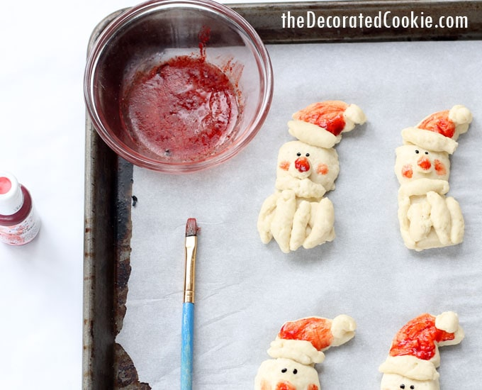 Santa dinner rolls - easy Christmas bread - with video